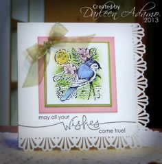 CAS208~Yearning for Spring... by darleenstamps - Cards and Paper Crafts at Splitcoaststampers (Stazon Jet Black, Bashful Blue, Pear Pizzazz, Mauve Mist, So Saffron)