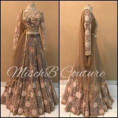 By mischb couture Indian Wedding Outfits, Bridal Outfits, Indian Outfits, Bridal Dresses, Indian Gowns, Indian Attire, Pakistani Dresses, Lehnga Dress, Lehenga Choli
