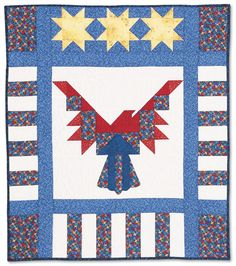 Liberty Square Patriotic Quilt Kit Stars Amp Stripes