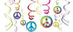Feeling Groovy Swirl Decorations 12ct