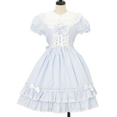 ♡ BABY THE STARS SHINE BRIGHT ♡ Light blue stripe dress http://www.wunderwelt.jp/products/detail9885.html ☆ ·.. · ° ☆ How to buy ☆ ·.. · ° ☆ http://www.wunderwelt.jp/user_data/shoppingguide-eng ☆ ·.. · ☆ Japanese Vintage Lolita clothing shop Wunderwelt ☆ ·.. · ☆
