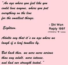 ... Quotes on Pinterest Reply 1997, Quotes about true love and Korean