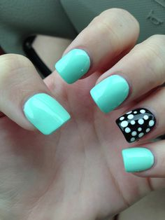 Love this you can do polka dots with the end of bobby pins just make sure there bubbly .