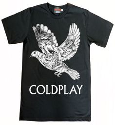 Coldplay Ghost Story Bird TShirt Size S to XL by Wolfpaly on Etsy, $14.99