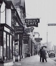 1950s Bognor Regis High Street Candid Photography, Street Photography, Bognor Regis, Old Street, Old Images, Brighton, Times Square, England, Street View