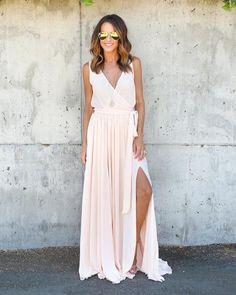 Diana Sleeveless Maxi Dress - French Vanilla