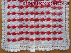 Cherry Sparkle free baby blanket crochet pattern from http://www.patternsforcrochet.co.uk/pram-blanket-usa.html #freecrochetpatterns #patternsforcrochet