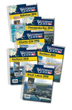 WATERWAY GUIDE -- six editions cover coastal waters from Maine to Florida, the Bahamas, the Gulf of Mexico, the Great Lakes and the Great Loop Cruise of America's inland waterways.  UPDATED ANNUALLY!  The guides incorporate timely, mile-by-mile navigational information, helpful aerial photographs with white-lined routes, comprehensive data on more than 3,500 marinas along the East Coast waterways and useful cruising information.