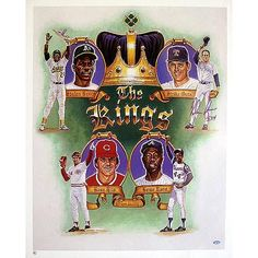 Steiner Sports Nolan Ryan Kings of Baseball Poster with 5714 Inscription