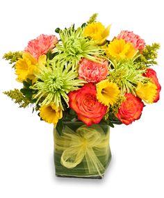 spring flower arrangements | ... APRIL Spring Floral Arrangement | Spring Flowers | Flower Shop Network