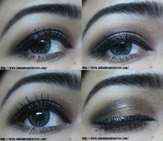 Smokey Gold Eye Makeup Tutorial