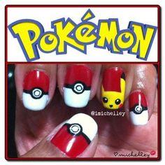 Pokemon nails @Nevaeh YellowRobe
