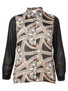 For a bold look, wear this printed shirt from JUNAROSE. #junarose #print #shirt #fashion #plussize