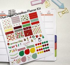 This listing is for a Christmas planner kit for the Plum Paper planner. You will receive everything shown in the picture (does not include sticky