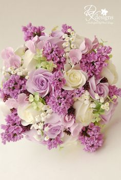 bridal bouquets with purple roses and baby breath | My New Favorite Bouquet!