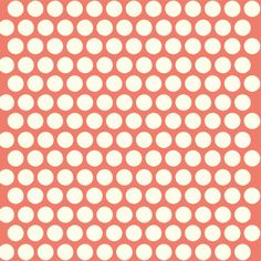 Coral dot fabric