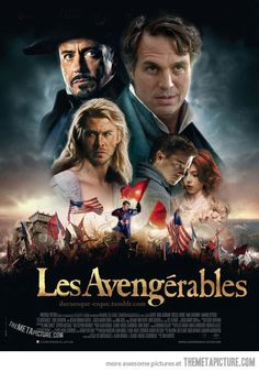 Les Avengerables. I laugh every time Thor is used as a lady. They made Cap. America too small. Bruce Banner looks good though...
