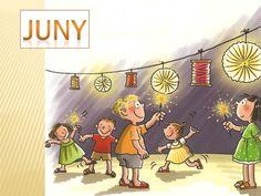 ELS MESOS DE L'ANY Lany, Classroom Decor, Language, Tapestry, Ideas, Educational Activities, School, Classroom Organization, Seasons Of The Year
