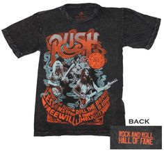 ROCK AND ROLL HALL OF FAME INDUCTEES RUSH T-Shirt Concert Apparel Free Shipping! #rocknrollhalloffame #GraphicTee
