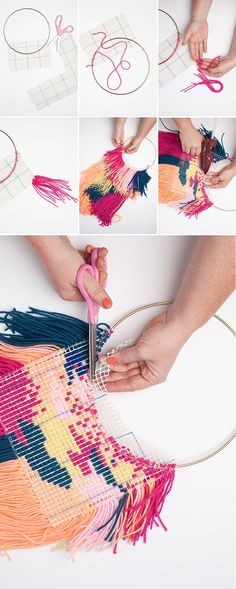diy wall hanging weaving