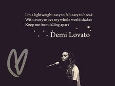Lightweight - Demi Lovato. Easily my favorite song by her.