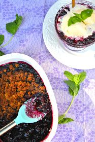 ValSoCal: Blueberry and Gingersnap Crumble
