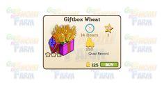 Nuova coltivazione disponibile nel Market: Giftbox Wheat  Nuova coltivazione disponibile nel Market  Giftbox Wheat  Livello minimo: 5  Matura in: 14 ore  Costa: 125 Coins  Fa guadagnare 1 XP  Rende: 250 Coins  Mastery: 600 / 600 / 600 (tot. 1.800)