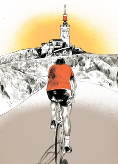 Mont Ventoux Bicycle Drawing, Bicycle Art, Cycling Art, Road Cycling, Ffa, Push Bikes, Bike Poster, Cross Country, People Art