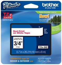 Brother TZ-242 p-touch tape  #Brother #LabelIt #ptouchdirect.com #organization #DIY