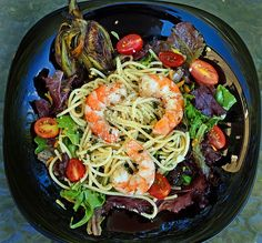 Its Summer Time and The Living Is Easy....... Enjoy This Wonderful Grilled Shrimp Salad - A Culinary Journey With Chef Dennis