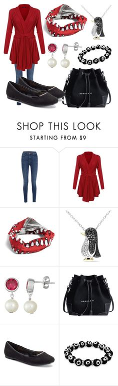 """""""Penguin Books"""" by megdelaina-disney ❤ liked on Polyvore featuring J Brand, Vera Bradley, Miadora, LC Lauren Conrad and Bling Jewelry"""
