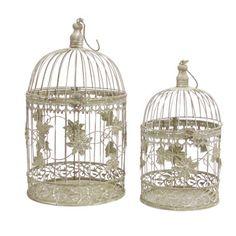 2 Piece Birdcage Décor Set