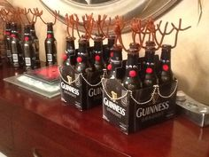 Reindeer beer six packs Christmas gift for neighbors