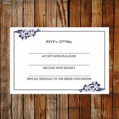 55 Amazing Printable Wedding Rsvp And Enclosure Card Templates