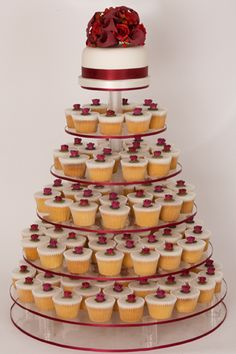 like this, but with velvet cupcakes and a topper, more x-masy