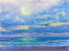 """""""Water and Light"""" - Pastel on paper, in Water Reflections by Niki Hilsabeck"""