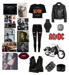 """""""South side serpent"""" by michelle19861995 ❤ liked on Polyvore featuring Key Street, Acne Studios, River Island, Boohoo, Capezio, AC/DC, AeraVida and Nixon"""