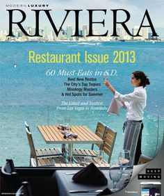 Client Tom Ham's Lighthouse on the cover of Riviera. The views are spectacular.