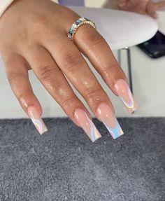 Burgundy Acrylic Nails, Acrylic Nails Coffin Pink, Colored Acrylic Nails, Simple Acrylic Nails, Square Acrylic Nails, Square Nails, Acrylic Nail Designs, Basic Nails, Acylic Nails