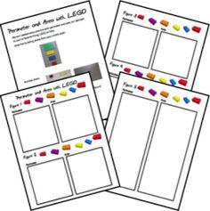LEGO school -- perimeter and area printables
