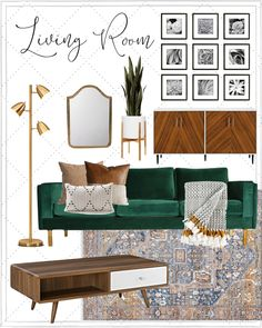 Delighted Weekend, everyone! Not heading to lie, I feel officially losing a record of exactly what day Living Room Green, Boho Living Room, Living Room Sofa, Bohemian Living, Living Room Decor Green Couch, Living Room With Plants, Modern Living Room Decor, Target Living Room, Green Wall Decor