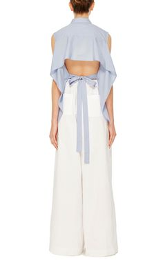 Cotton Poplin Tie Back Shirt by Tome | Moda Operandi