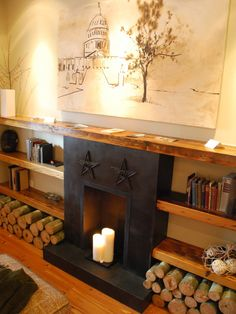Spaces Eclectic Modern Country Fireplace Design, Pictures, Remodel, Decor and Ideas - page 9