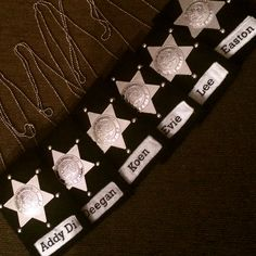 Detective police badge party favors for kids.