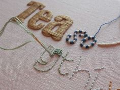 Unique hand embroidery made in England: Normal Stitching Service has Resumed...