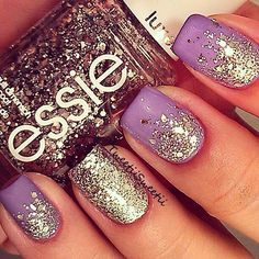 Probably the easiest nail art look to try at home. Grab your fave shade and a complementary glitter and make it happen.