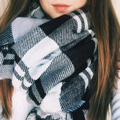 Big cozy scarves for the win! (Find this scarf in the shop tab on my blog)