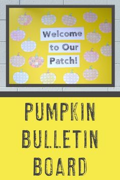 If you're like me you want a bulletin board you can keep up more than one month. These cute pumpkins let you keep them up throughout September, October, AND November to cover both Halloween and Thanksgiving. That's a win! Plus there are no prep options and a FREE puzzle to test in the blog post. Click to learn more and try them today! #FallBulletinBoard #PumpkinBulletinBoard #WelcomeToOurPatch