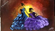 Flamenco Dancers | Acrylic painting| #clive5art
