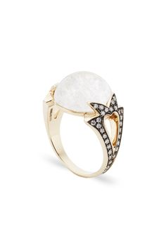 Noor Fares: Fly Me to the Moon cabochon ring